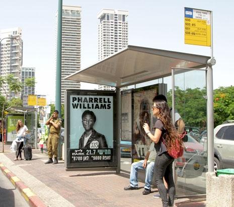 JCDecaux Abri bus Tel Aviv 2